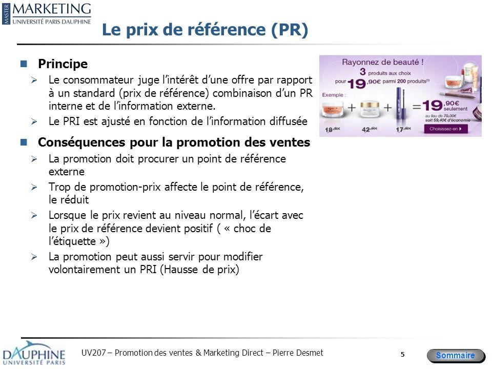 Le prix de référence (PR)