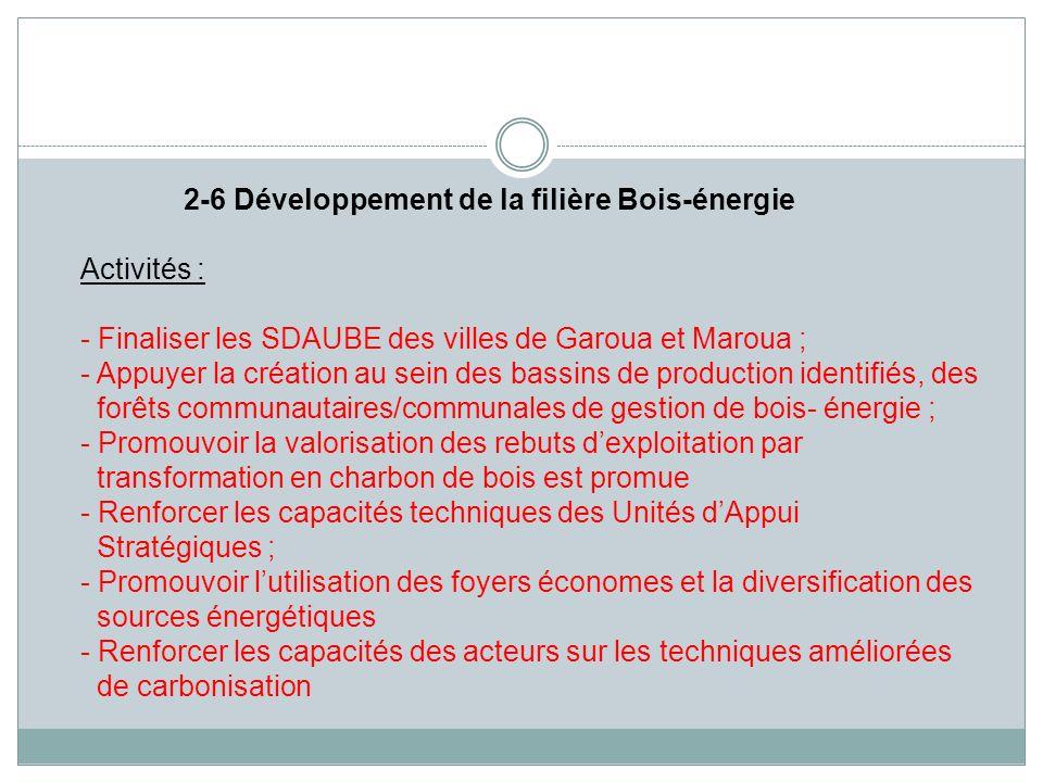 2-6 Développement de la filière Bois-énergie