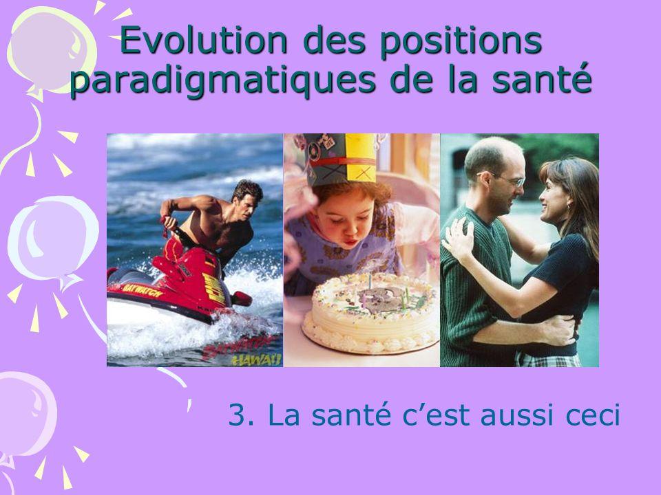 Evolution des positions paradigmatiques de la santé