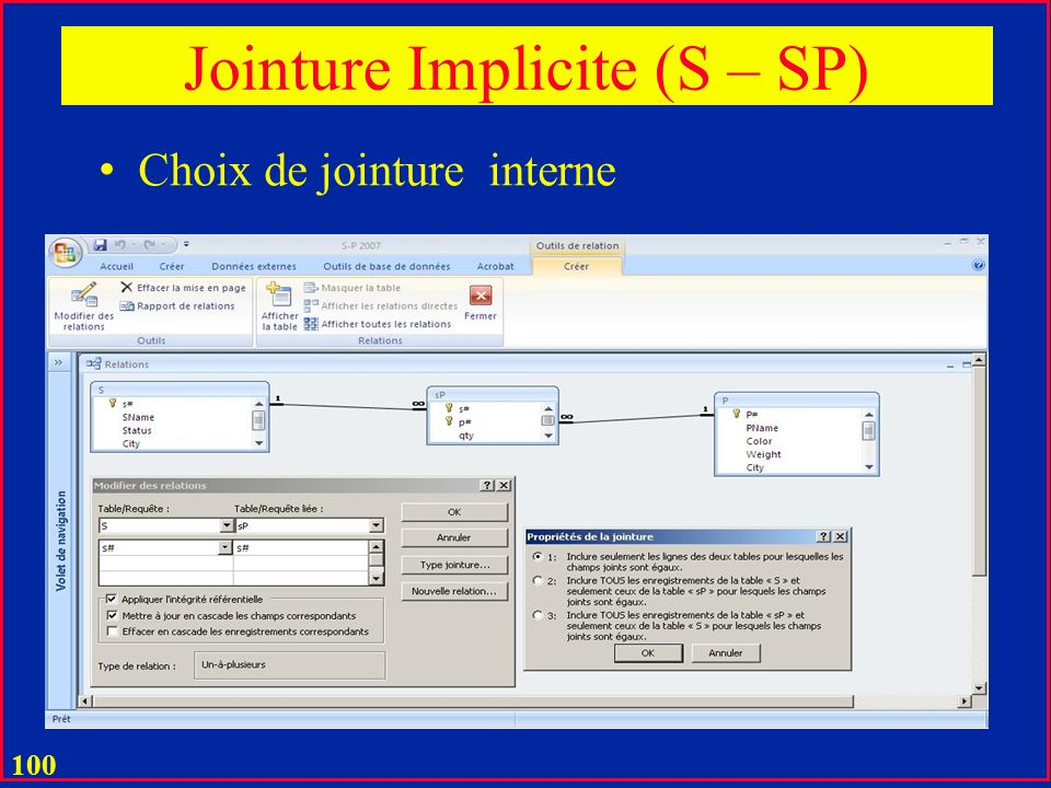 Jointure Implicite (S – SP)