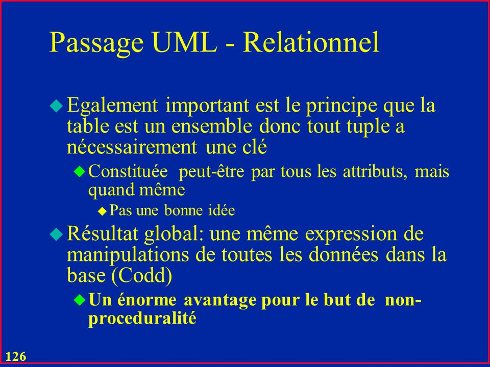 Passage UML - Relationnel