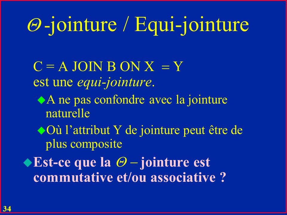 -jointure / Equi-jointure
