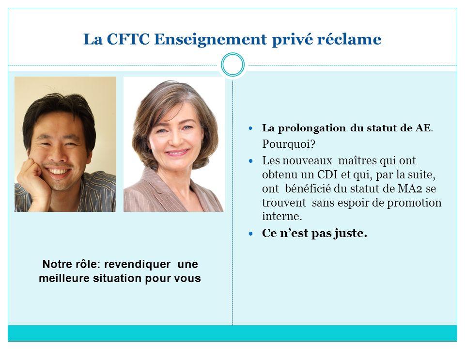 La CFTC Enseignement privé réclame