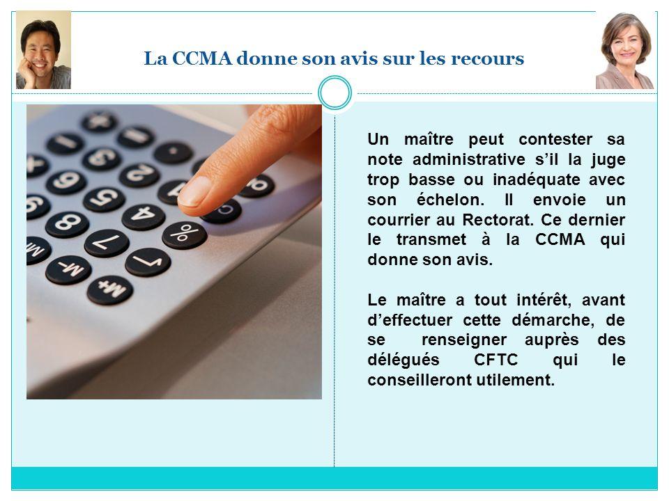 La CCMA donne son avis sur les recours