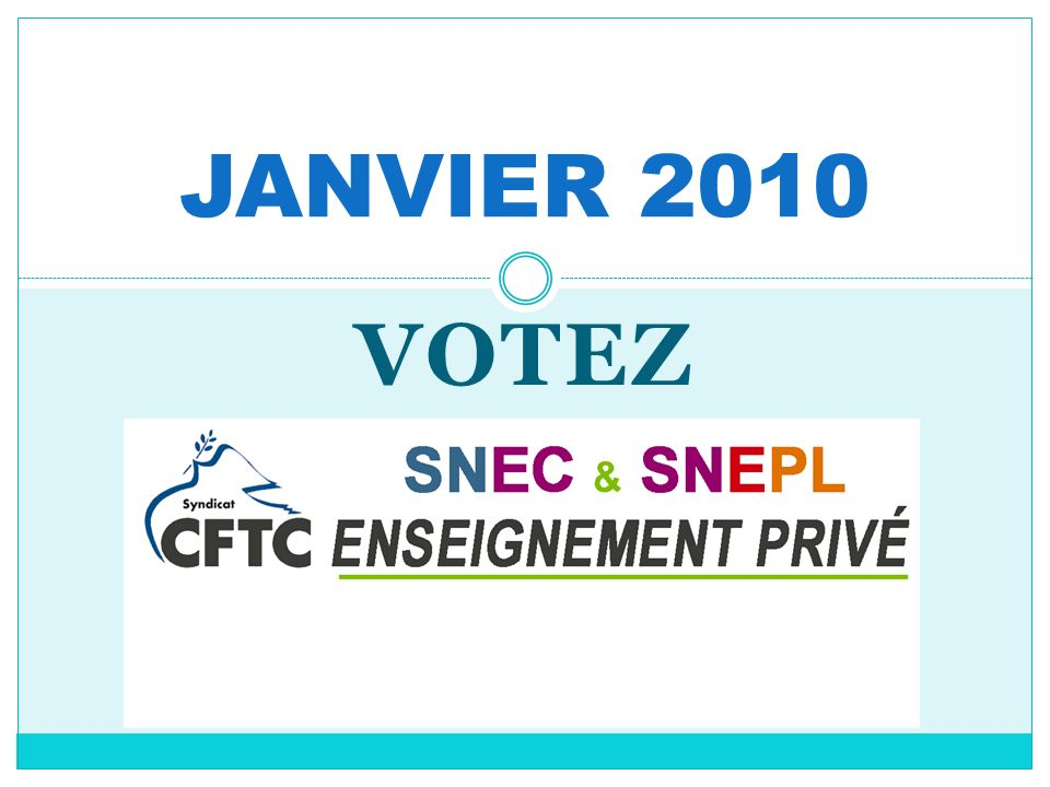 JANVIER 2010 VOTEZ