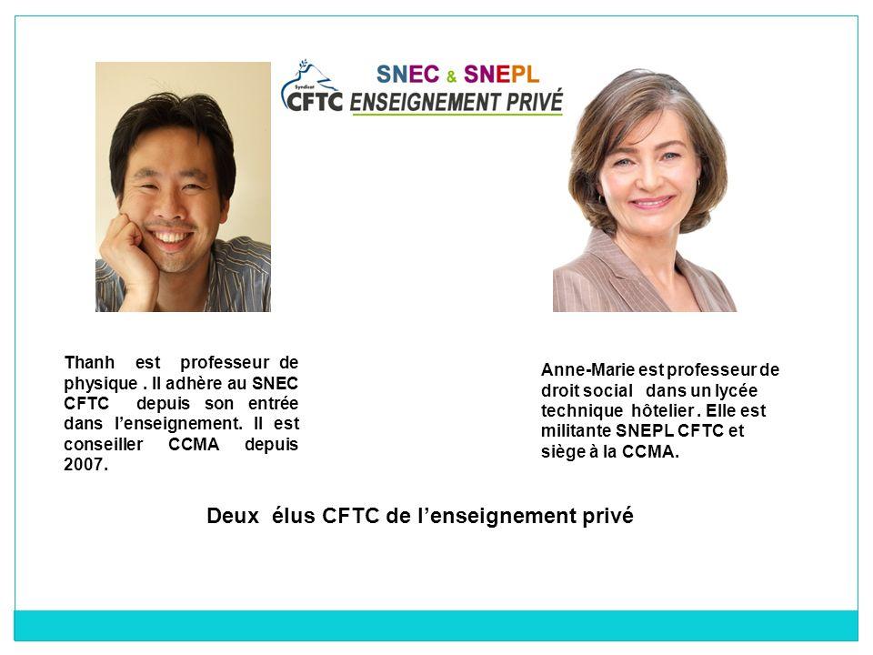 Deux élus CFTC de l'enseignement privé