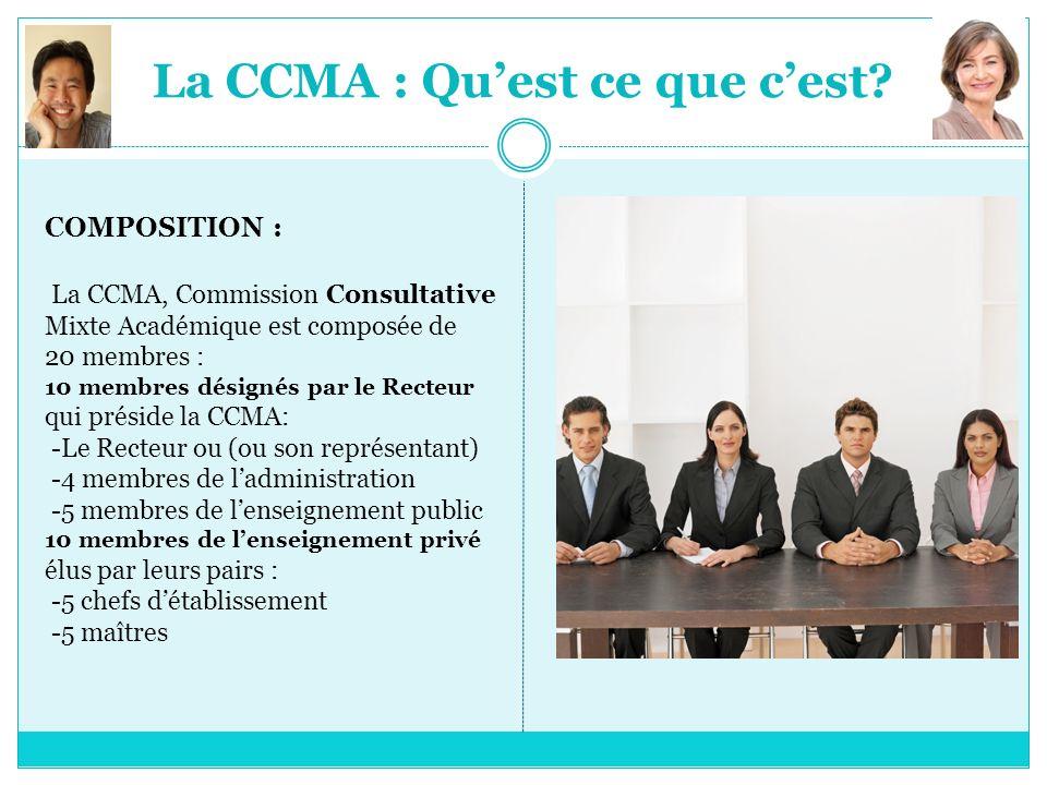 La CCMA : Qu'est ce que c'est