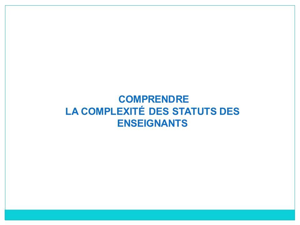 LA COMPLEXITÉ DES STATUTS DES ENSEIGNANTS