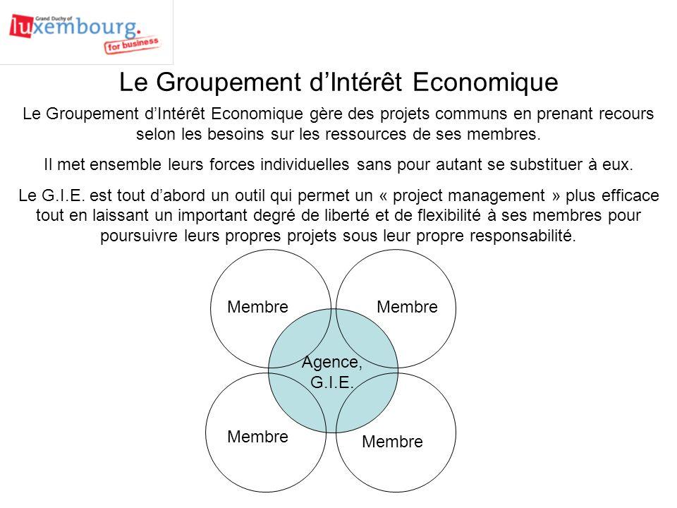 Le Groupement d'Intérêt Economique