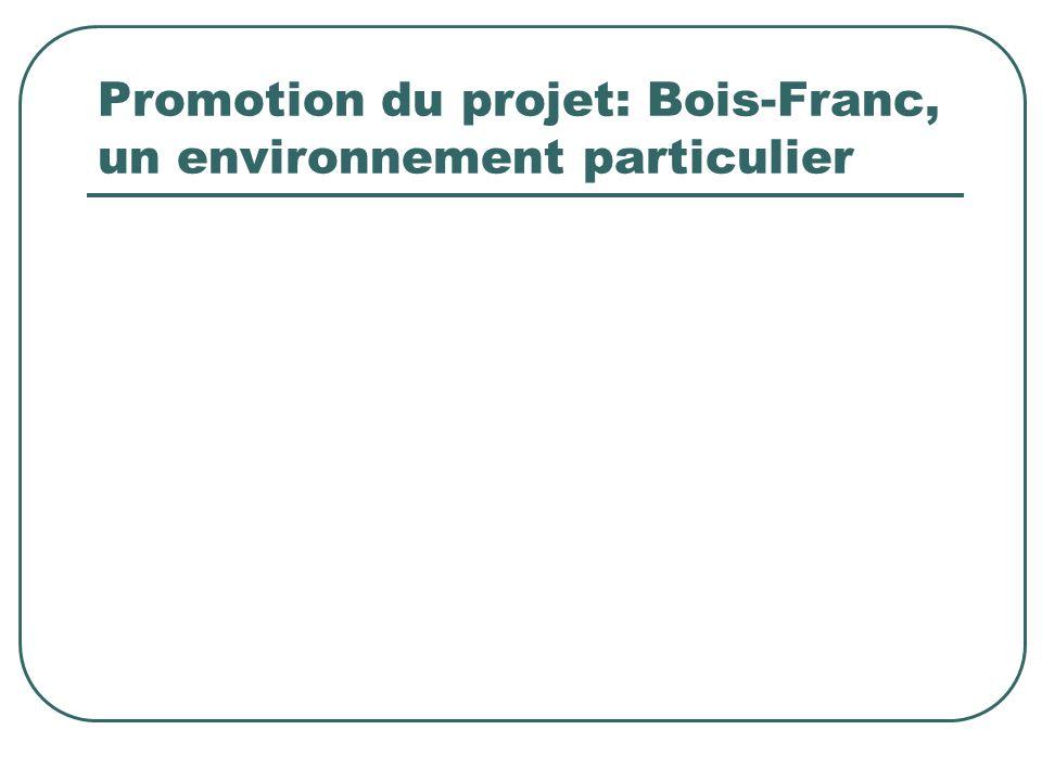 Promotion du projet: Bois-Franc, un environnement particulier