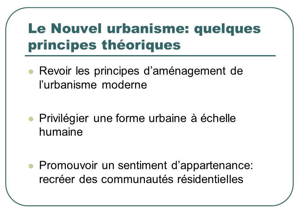 Le Nouvel urbanisme: quelques principes théoriques
