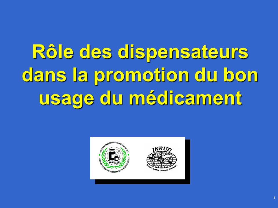 Rôle des dispensateurs dans la promotion du bon usage du médicament
