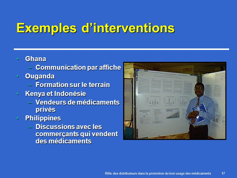 Exemples d'interventions