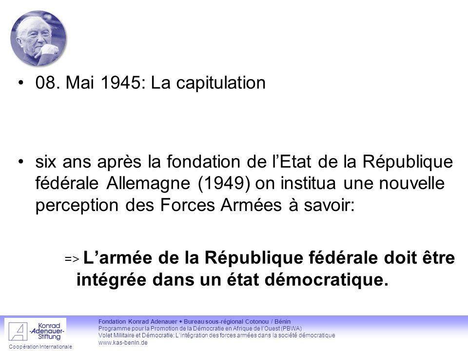 08. Mai 1945: La capitulation