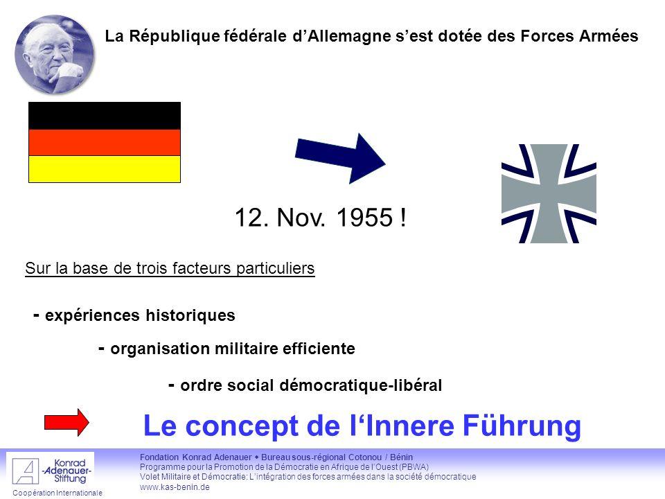 La République fédérale d'Allemagne s'est dotée des Forces Armées