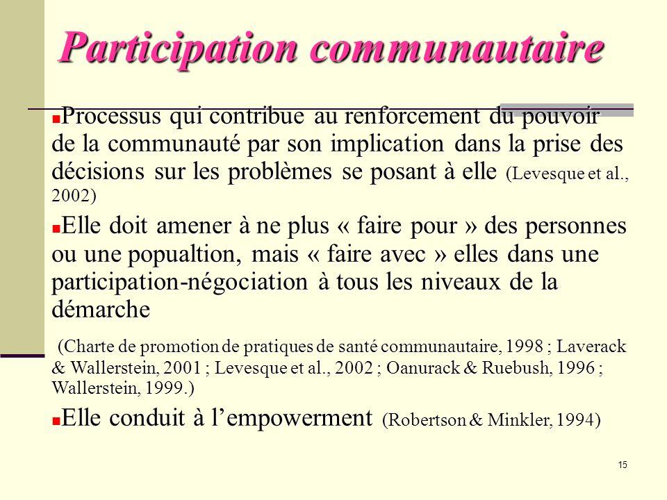 Participation communautaire