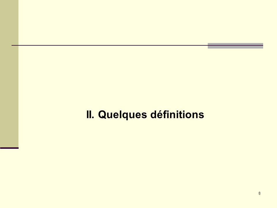 II. Quelques définitions