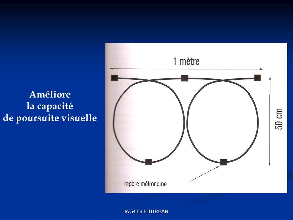 Améliore la capacité de poursuite visuelle