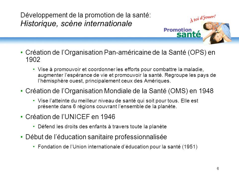 Création de l'Organisation Pan-américaine de la Santé (OPS) en 1902