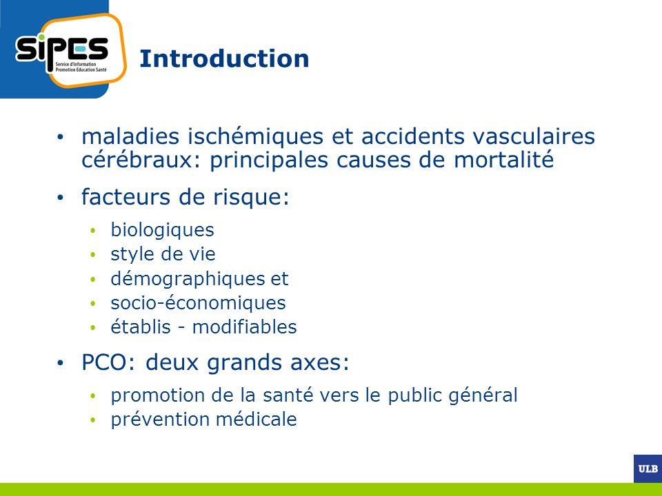 Introduction maladies ischémiques et accidents vasculaires cérébraux: principales causes de mortalité.