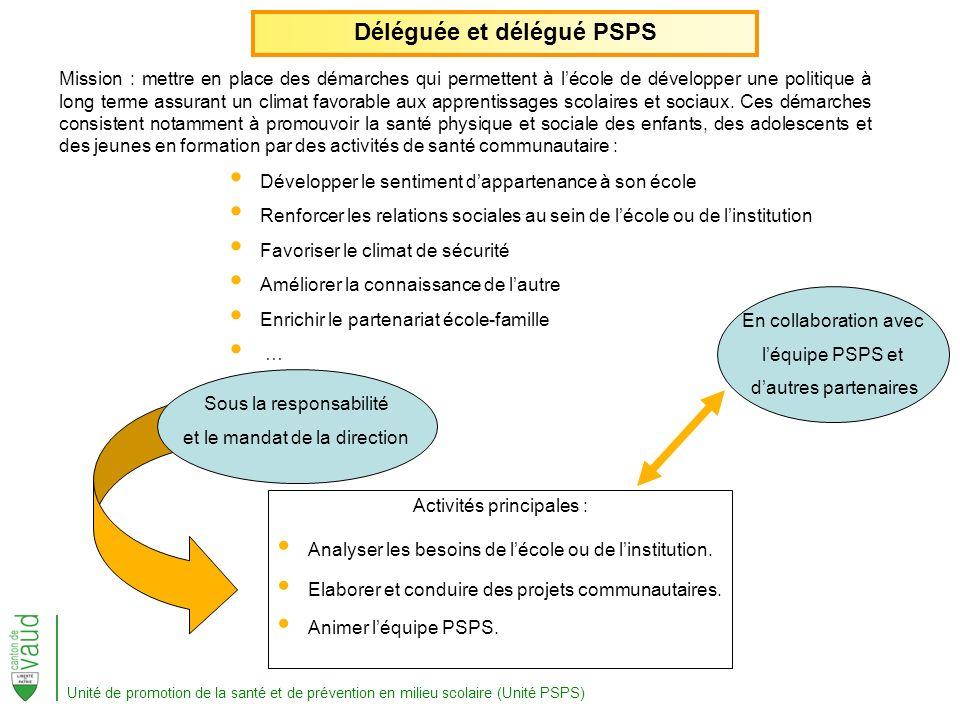 Déléguée et délégué PSPS