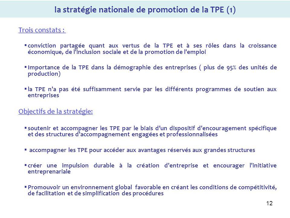 la stratégie nationale de promotion de la TPE (1)