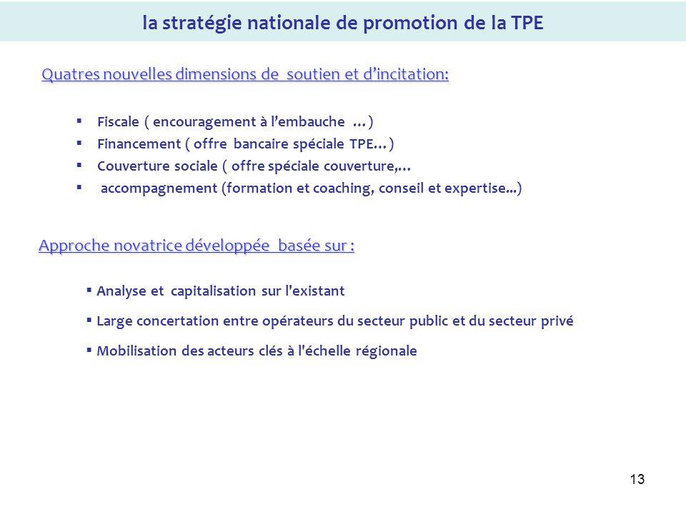 la stratégie nationale de promotion de la TPE