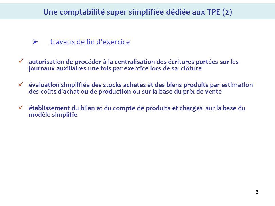 Une comptabilité super simplifiée dédiée aux TPE (2)