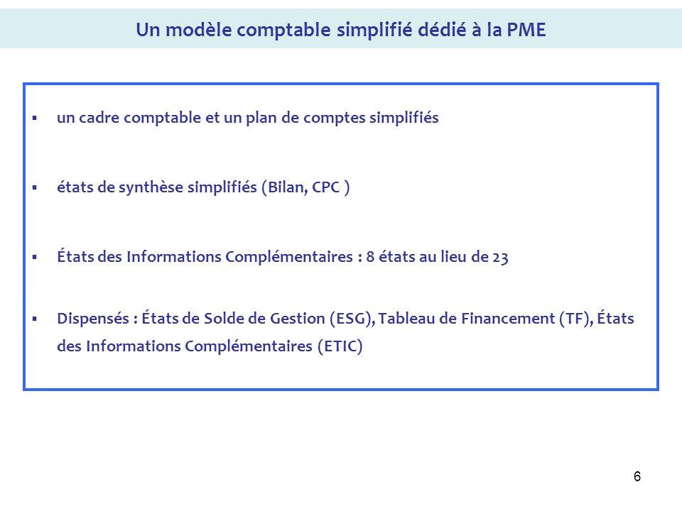 Un modèle comptable simplifié dédié à la PME
