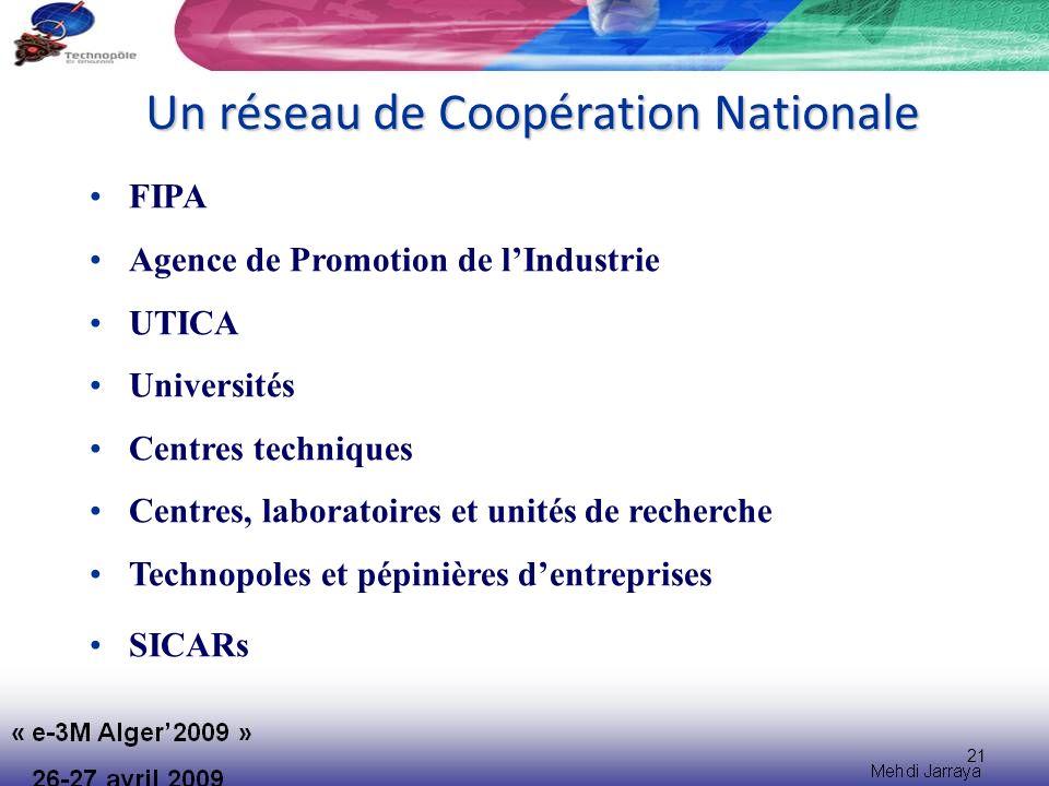 Un réseau de Coopération Nationale