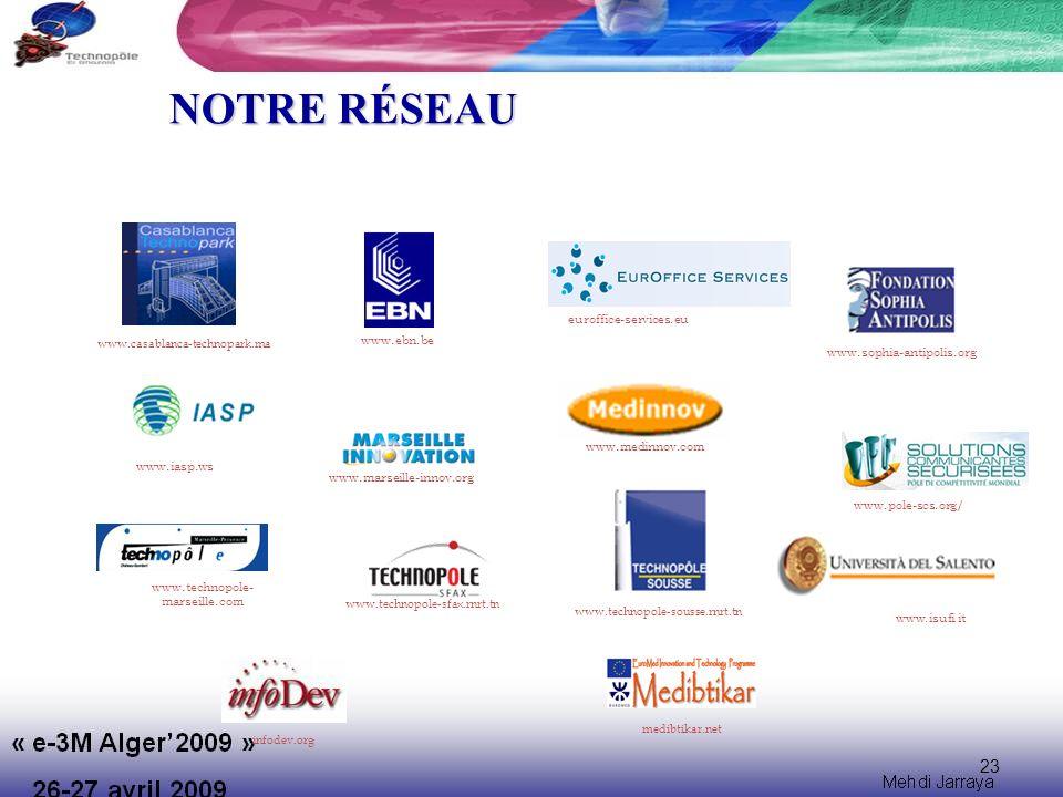 NOTRE RÉSEAU 23 euroffice-services.eu www.ebn.be
