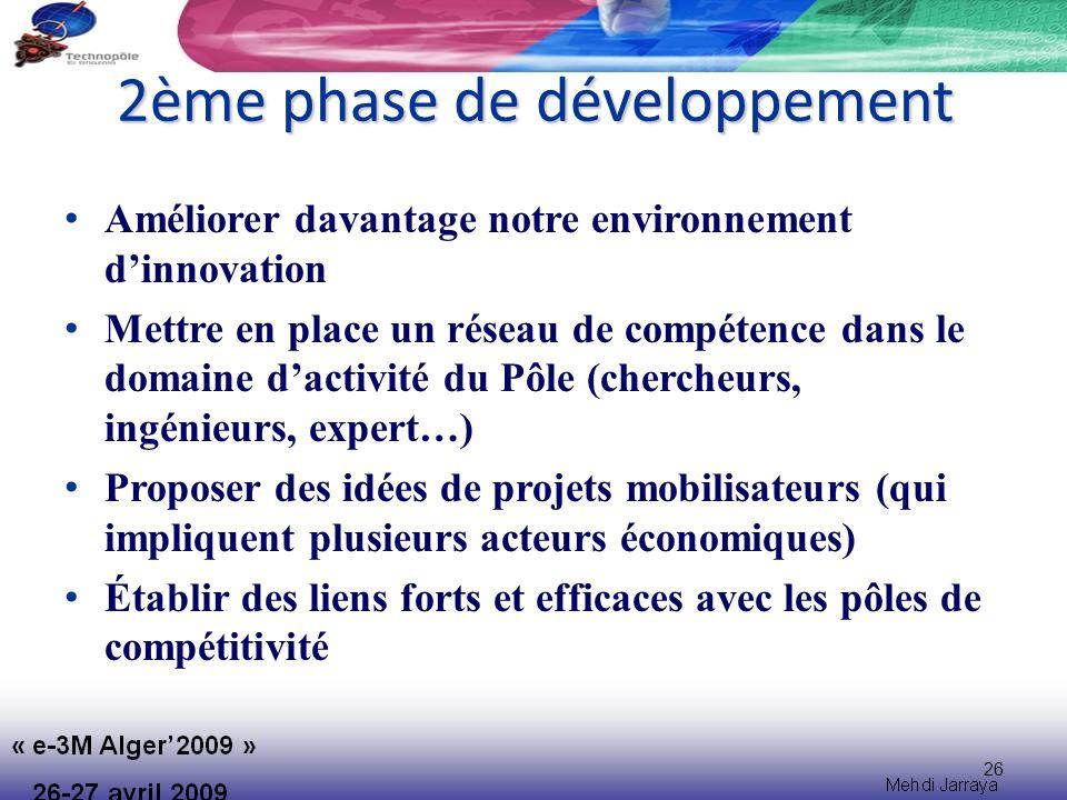 2ème phase de développement