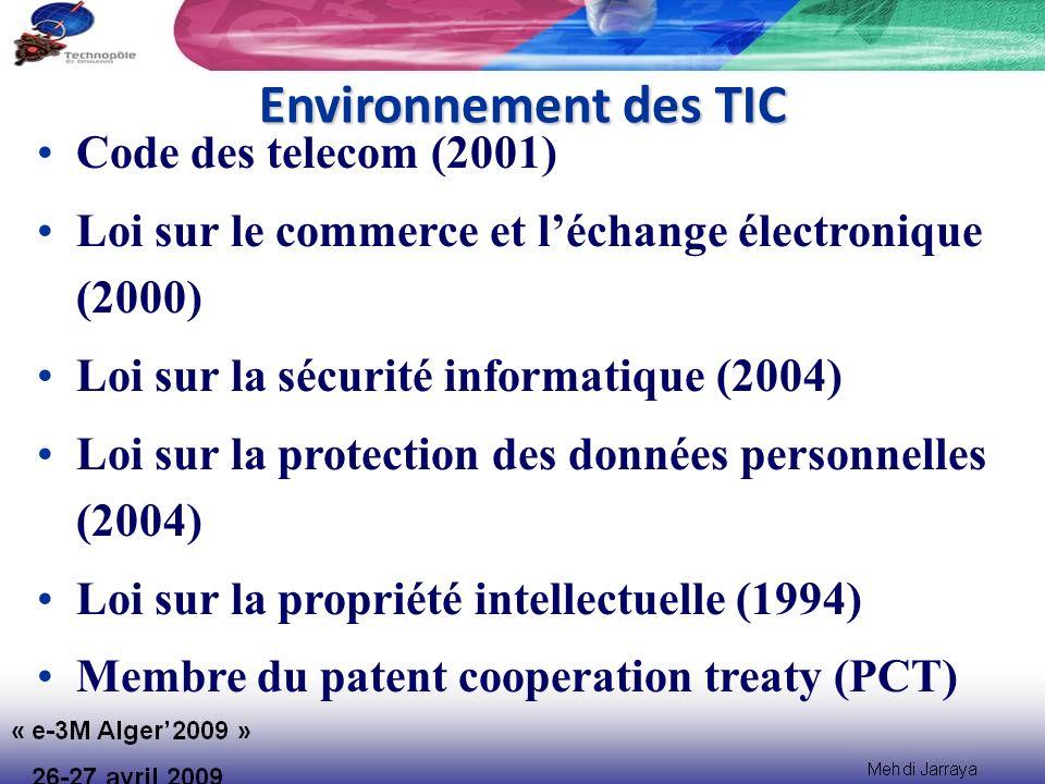 Environnement des TIC Code des telecom (2001)