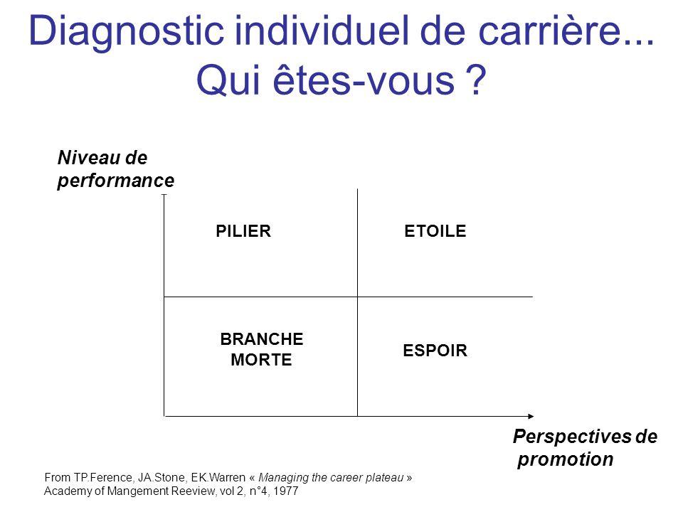 Diagnostic individuel de carrière... Qui êtes-vous