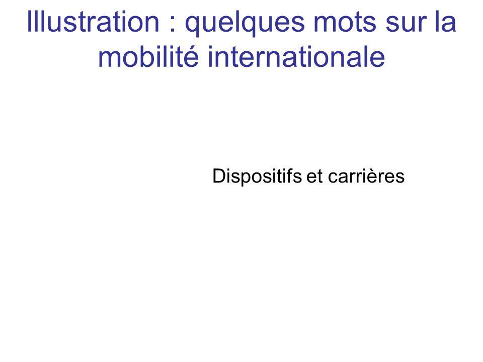 Illustration : quelques mots sur la mobilité internationale