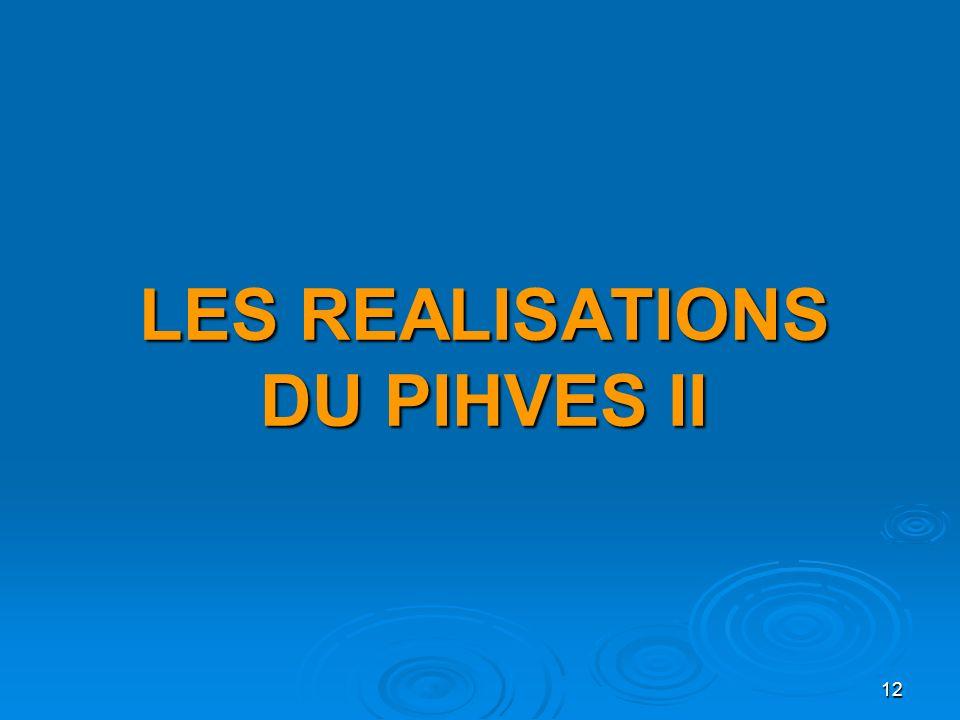 LES REALISATIONS DU PIHVES II