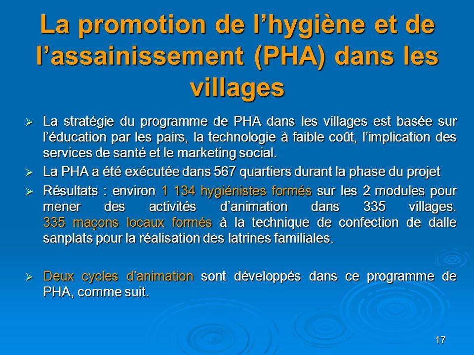 La promotion de l'hygiène et de l'assainissement (PHA) dans les villages