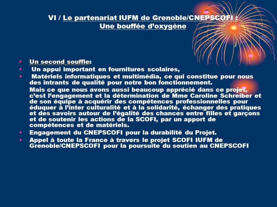 VI / Le partenariat IUFM de Grenoble/CNEPSCOFI : Une bouffée d'oxygène