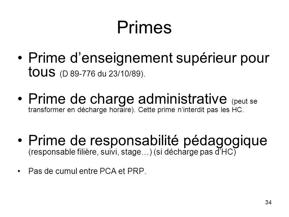 Primes Prime d'enseignement supérieur pour tous (D 89-776 du 23/10/89).
