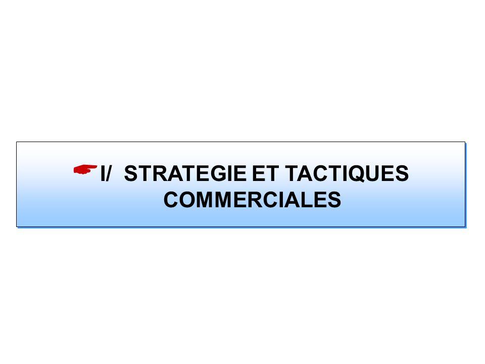 I/ STRATEGIE ET TACTIQUES COMMERCIALES