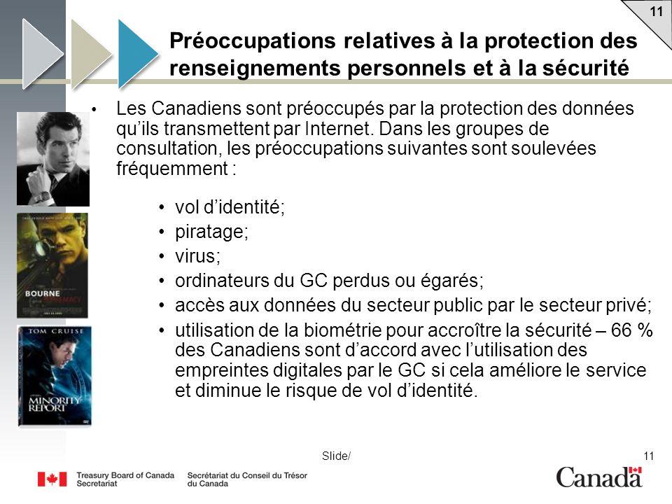 Préoccupations relatives à la protection des renseignements personnels et à la sécurité
