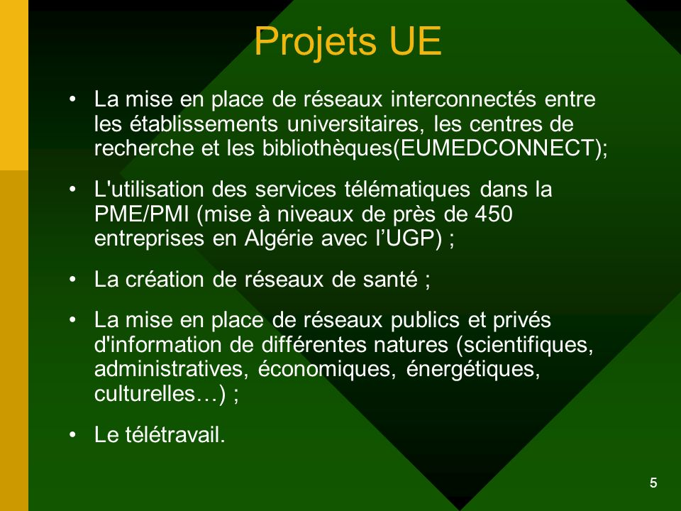 Projets UE