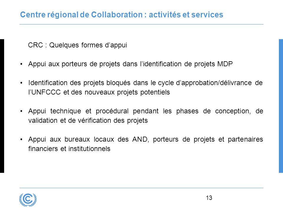 Centre régional de Collaboration : activités et services