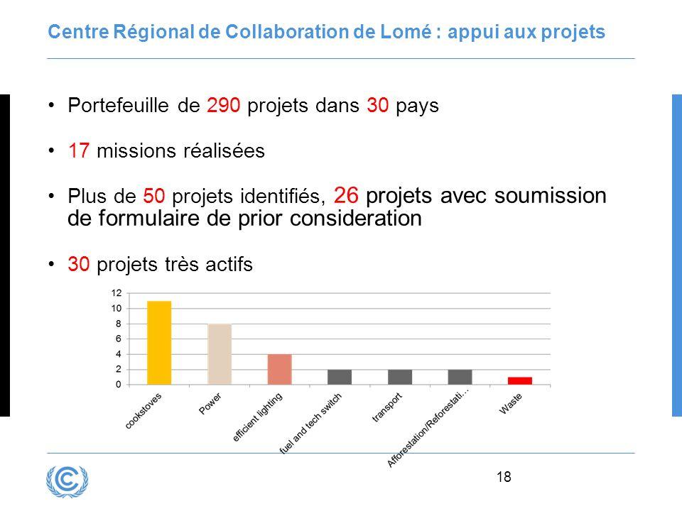 Centre Régional de Collaboration de Lomé : appui aux projets