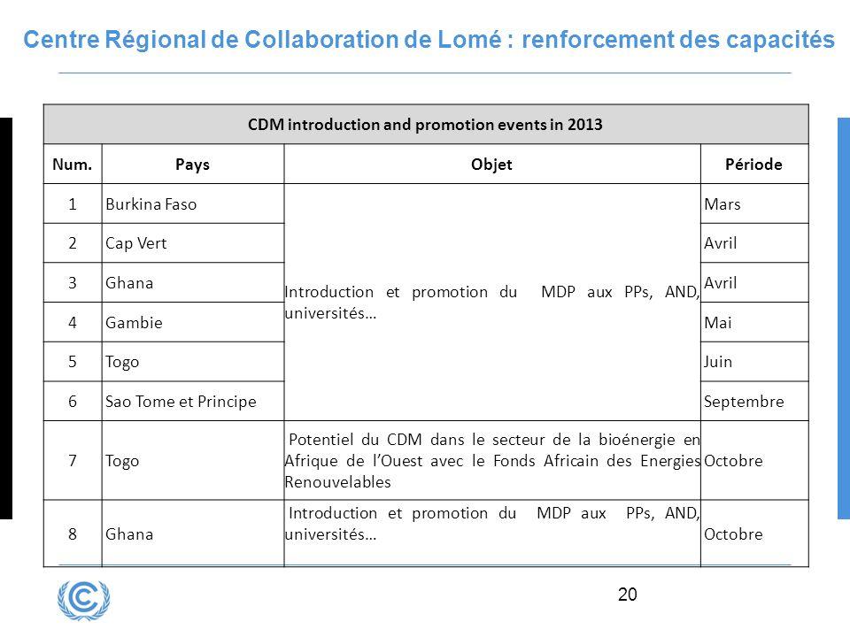 Centre Régional de Collaboration de Lomé : renforcement des capacités