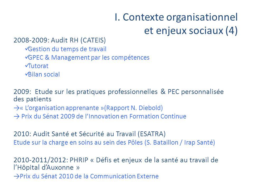 I. Contexte organisationnel et enjeux sociaux (4)