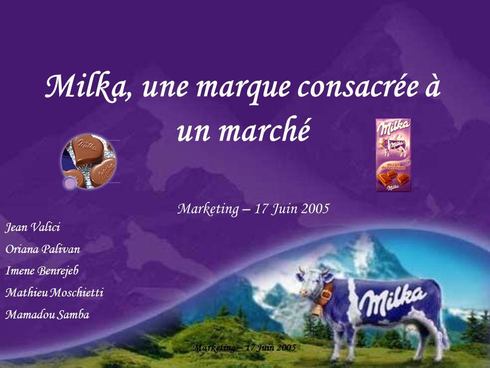 Milka, une marque consacrée à un marché