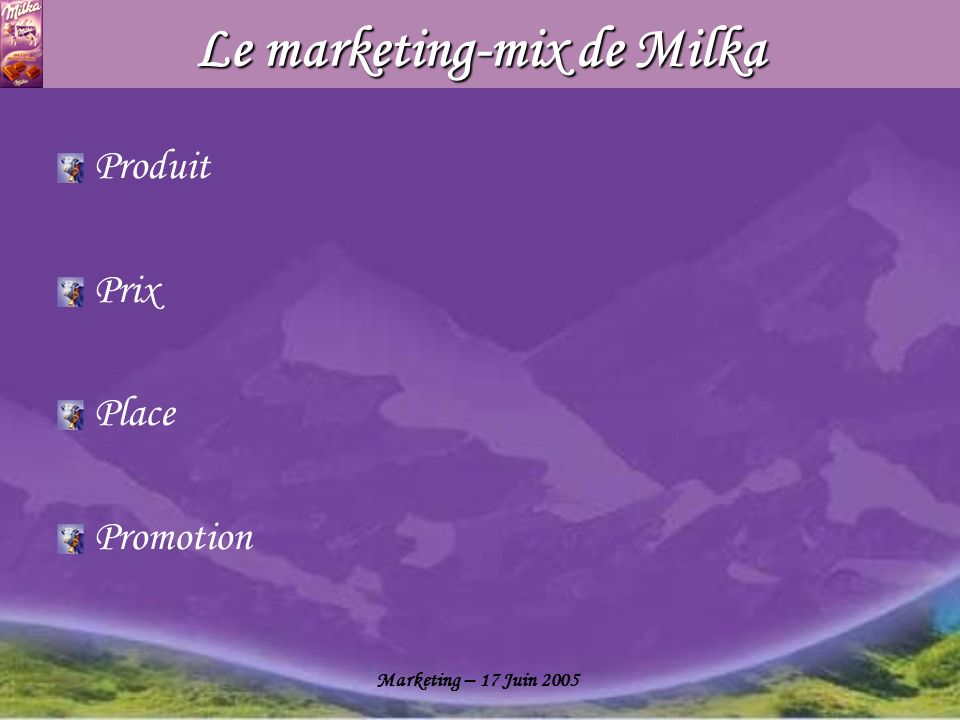 Le marketing-mix de Milka