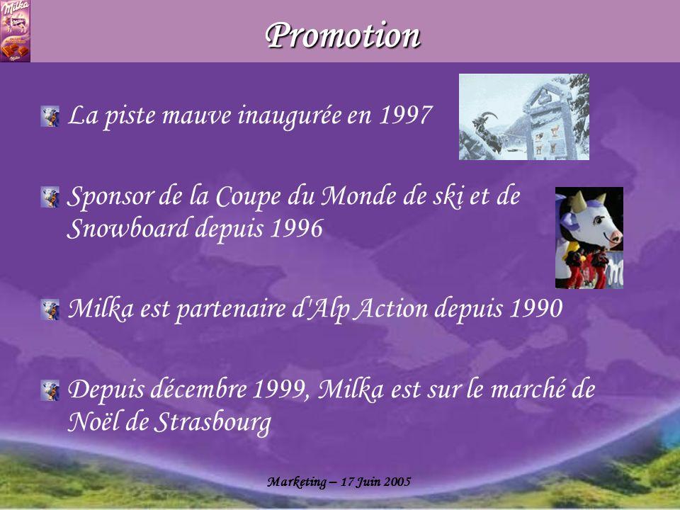 Promotion La piste mauve inaugurée en 1997