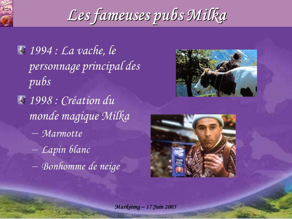 Les fameuses pubs Milka
